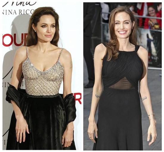 Angelina Jolie aparece pela primeira vez depois de retirar seios