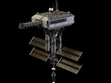 4- Armistice Station, da série televisiva 'Battlestar Galactica' – Esta estação espacial foi construída com a intenção de permitir que 'Cylons' e as 'Doze Colónias' pudessem manter relações diplomáticas