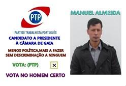 Será que Manuel Almeida, o 'ninja' de Vila Nova de Gaia, pretende 'absolver do crime imputado' quanto se refere a descriminação?