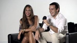 A dupla vencedora: Catarina Almeida Santos e João Pereira