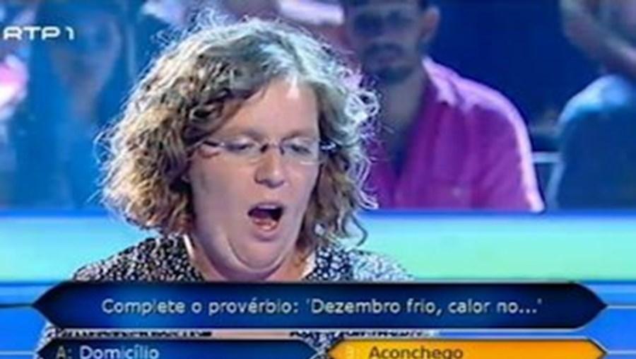 Quem Quer Ser Milionário, RTP, Concurso, Gafe, Manuela Moura Guedes