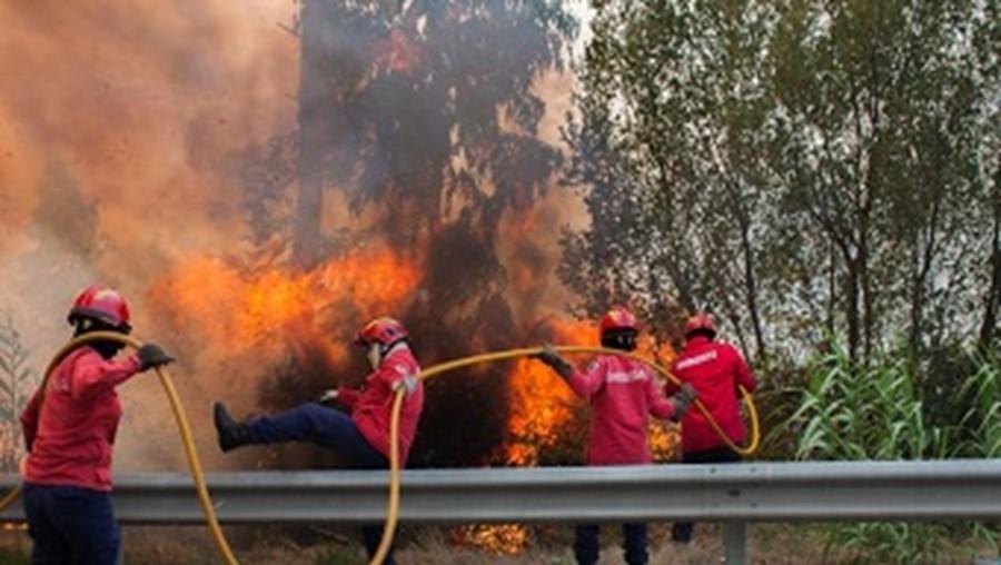 Oito bombeiros continuam no hospital