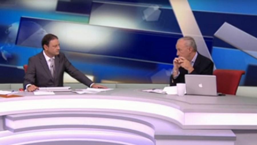 Santana Lopes esteve a comentar noite eleitoral na CMTV