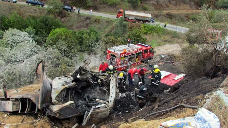 Acidente com camião, em Monchique, provocou dois mortos