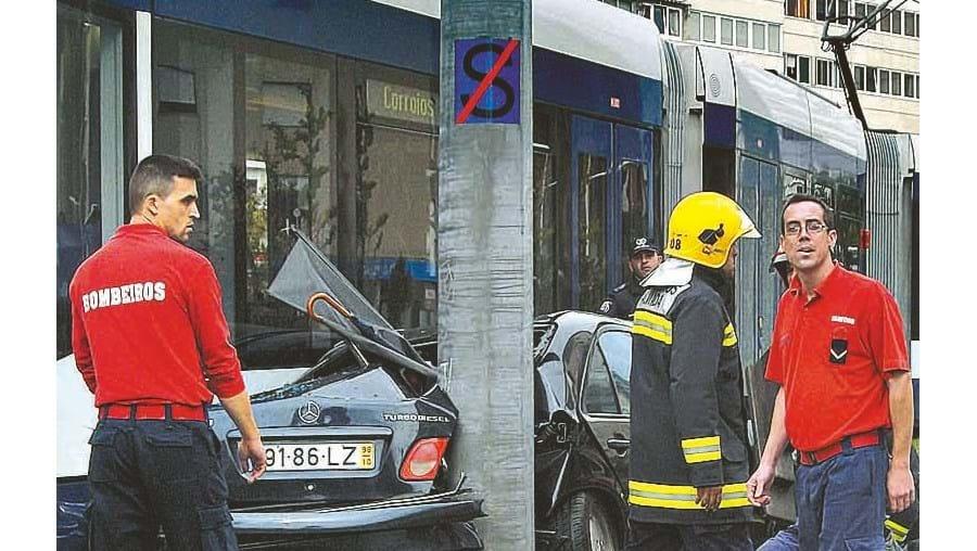 Acidente aconteceu no centro de Almada
