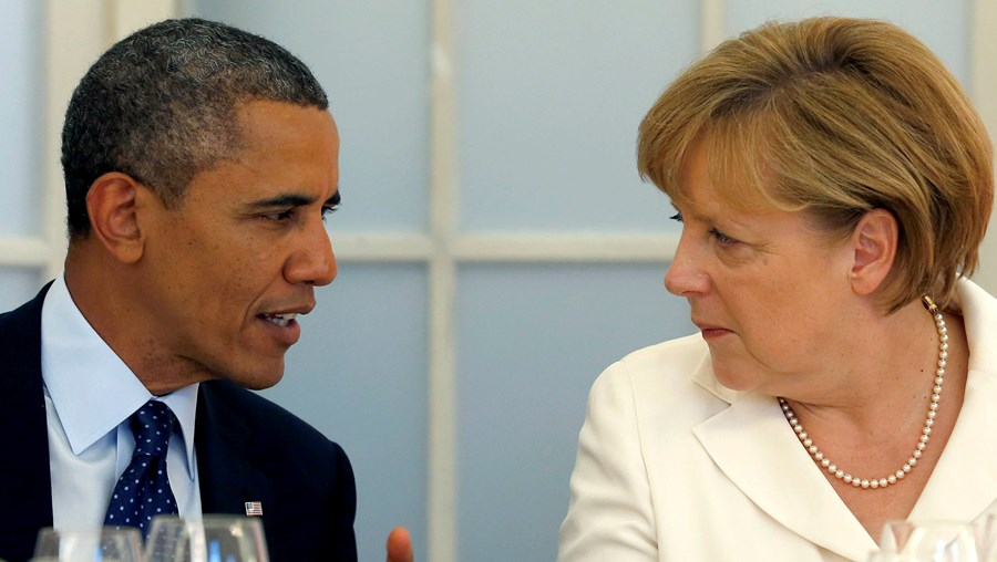 Barack Obama e Angela Merkel