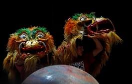 No 'Dralion' atua uma trupe chinesa de 25 elementos