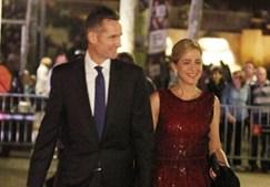 Iñaki Urdangarin, genro do rei de Espanha, e a sua mulher, infanta Cristina