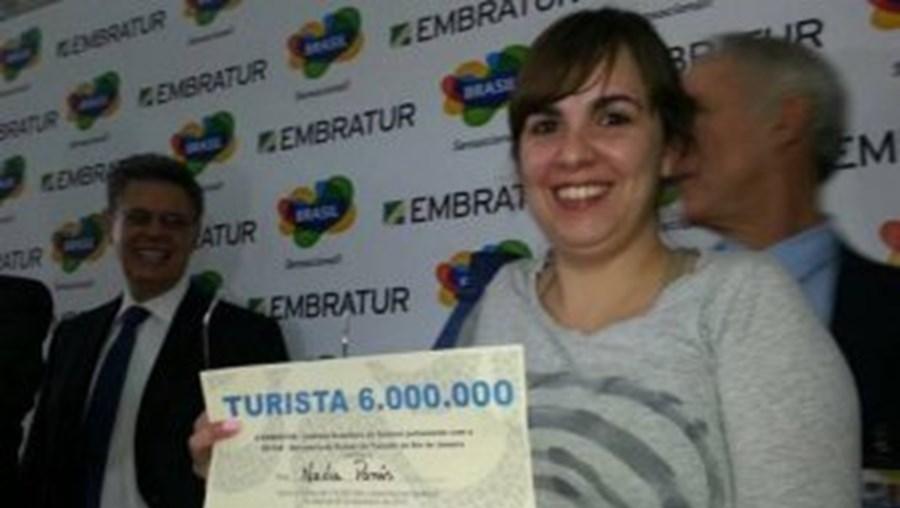 Nadja Panis é uma advogada argentina, de 30 anos, que viajou de Buenos Aires para o Rio acompanhada de várias amigas