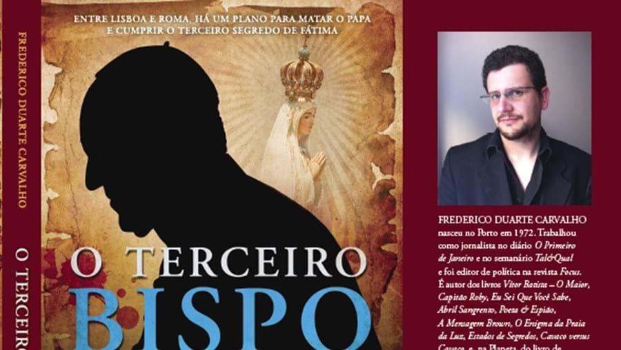 Pormenor da capa do livro 'O Terceiro Bispo', de Frederico Duarte Carvalho, agora lançado pela Planeta Editora