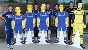 Jogadores de Mourinho transformados em Simpsons