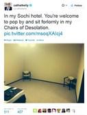 Um jornalista mostra no Twitter o quarto 'acolhedor'