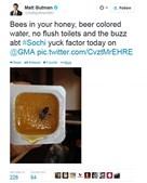 Uma abelha encontrada dentro do mel