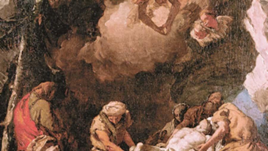 O quadro 'Deposição de Cristo no Túmulo'