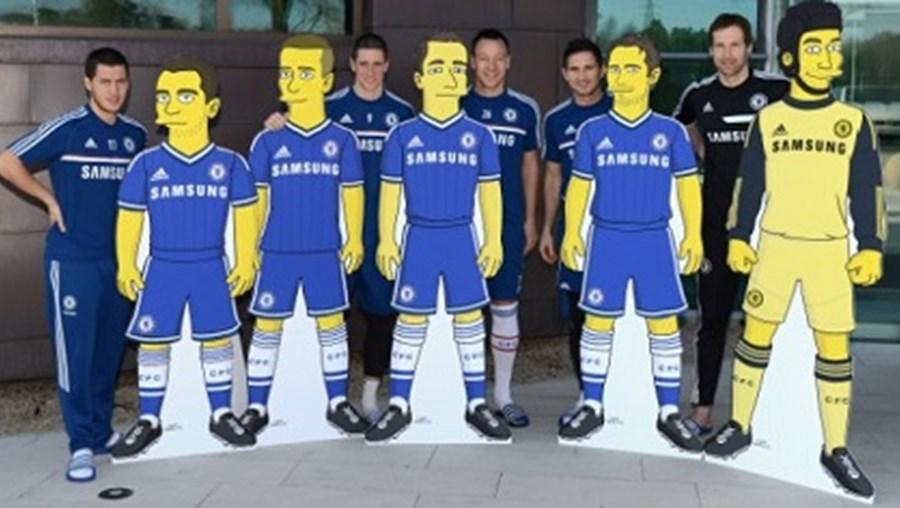Jogadores de Mourinho em desenhos animados