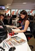 Isabel Lacerda e Andreia Vale preparam o 'CM Jornal 13H', que é apresentado pela pivô que trocou a SIC pela CMTV
