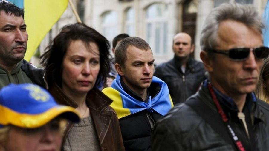 Ucrânia, ucranianos, Portugal, protestos, embaixada, Rússia