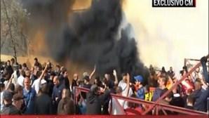 Claque radical do Real Madrid provoca distúrbios no Rossio