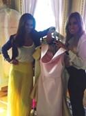 A atriz e apresentadora Cláudia Vieira elogiou as escolhas da sua stylist, Gabriela Pinheiro