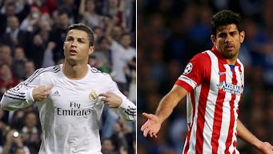 Cristiano Ronaldo, do Real, e Diego Costa, do Atlético, encabeçam a lista milionária de 8 jogadores cuja carreira é gerida por Jorge Mendes