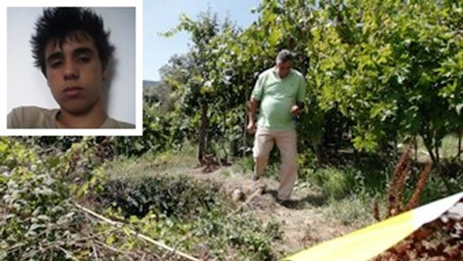 Fábio Vaz (em baixo) fugiu para um terreno  com silvas e mato e caiu dentro de um poço sem proteção