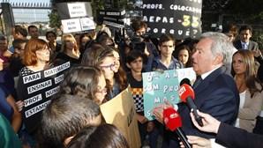 Protesto em Sintra contra falta de professores