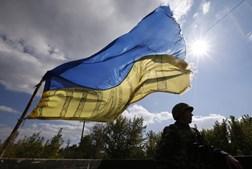 Militar ucraniano na cidade de Pervomaysk