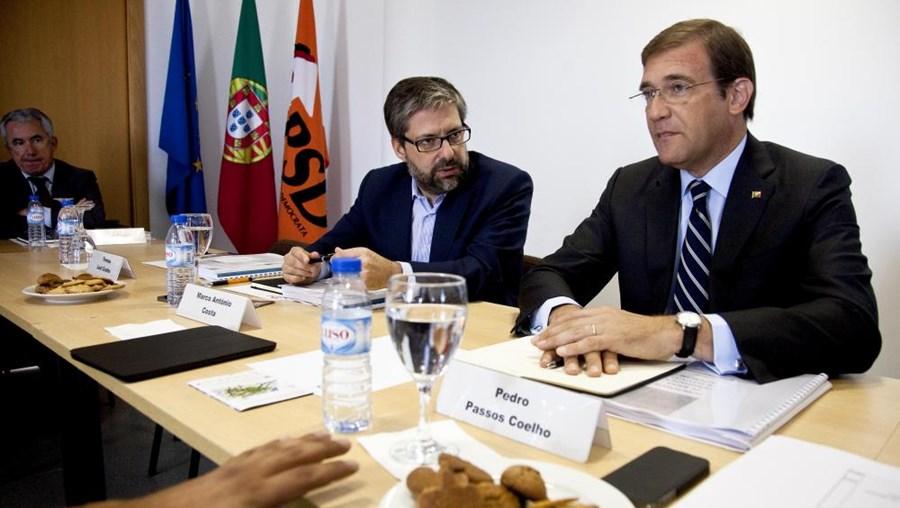 Pedro Passo Coelho no inicío da reunião da Comissão Política Nacional do PSD no Centro de Negócios em Ansião