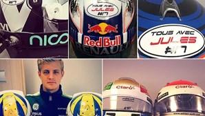 Solidariedade com piloto da F1
