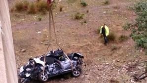 'Quinito' escapa  à morte em queda de viaduto