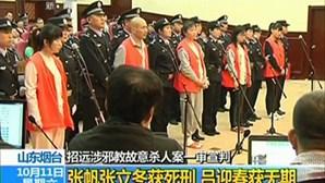 Condenados à morte dois elementos de seita chinesa