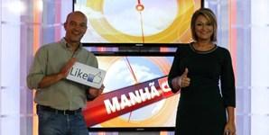 Os apresentadores Nuno Graciano e Maya no final do programa