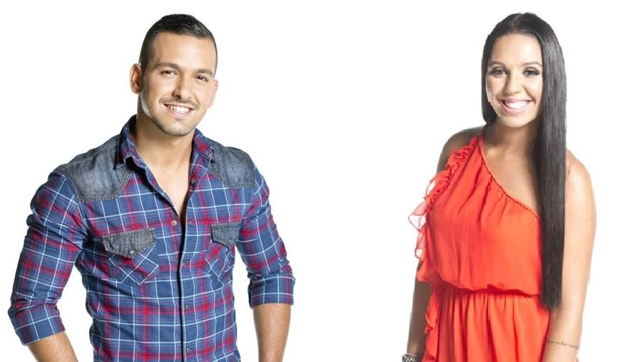 Os concorrentes Hugo e Inês