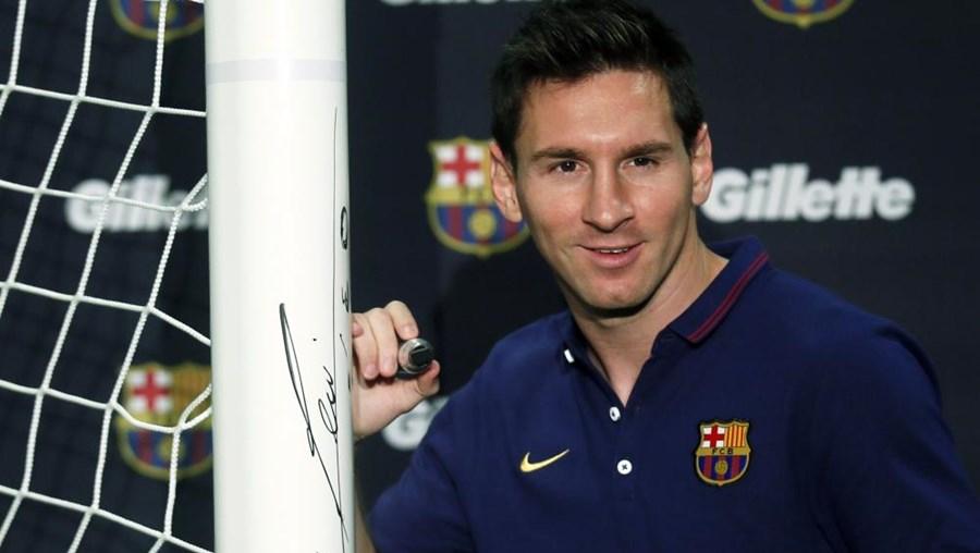 O jogador do FC Barcelona Lionel Messi