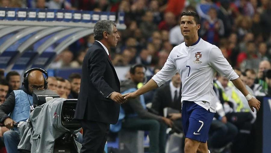 Fernando Santos e Cristiano Ronaldo França - Portugal (2-1) no Stade de France