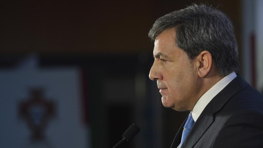 O presidente da Federação Portuguesa de Futebol, Fernando Gomes