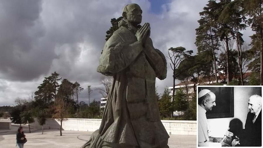 Paulo VI visitou Portugal em 1967, sendo recebido por Salazar