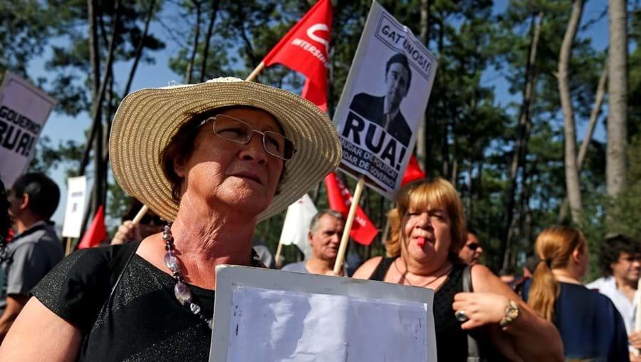 Houve protestos ontem em Forjães, à chegada dos governantes