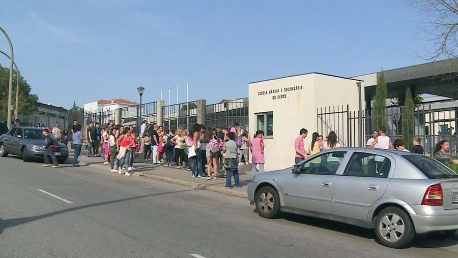 Violência, ontem, na Escola Básica e Secundária do Cerco