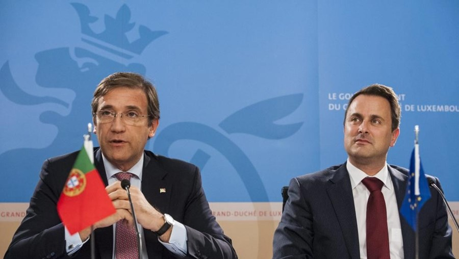 Pedro Passos Coelho e Xavier Bettel