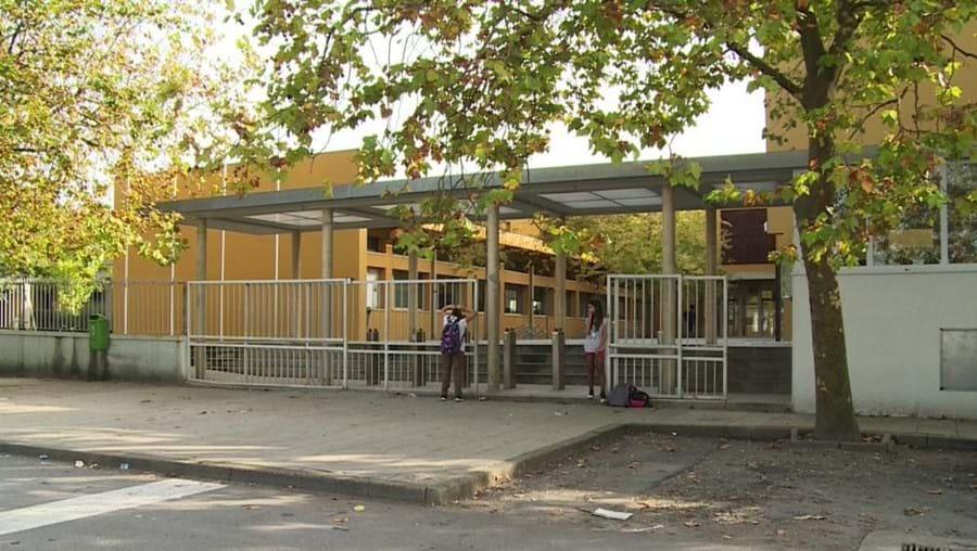 Escola José Régio, em Vila do Conde, onde vários alunos ficaram com urticária