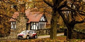 Carro da Citroen durante o 'Wales Rally GB 2014', no Reino Unido