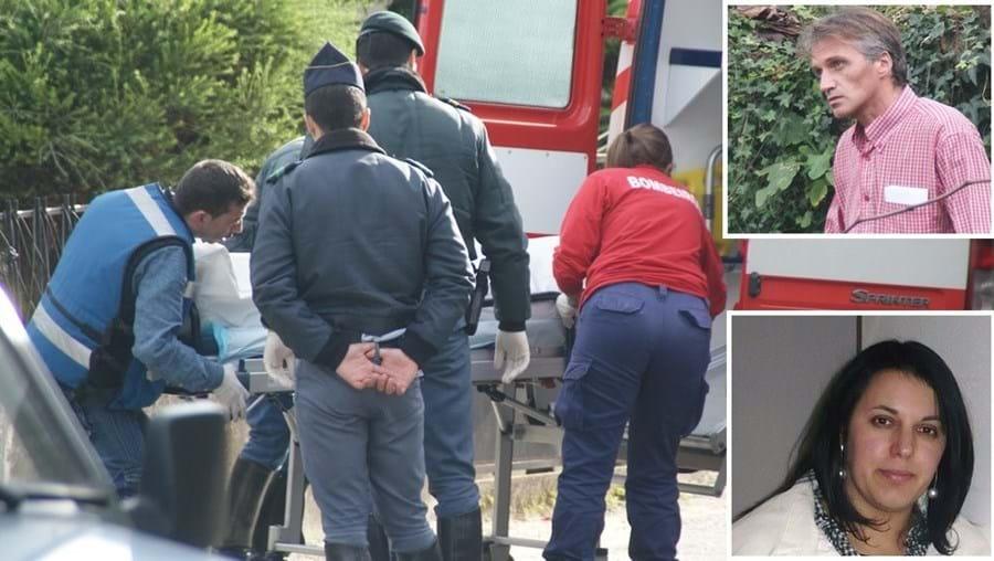 Maria Etelvina, de 33 anos, foi esfaqueada pelo ex-cunhado, Álvaro Faustino (em cima)