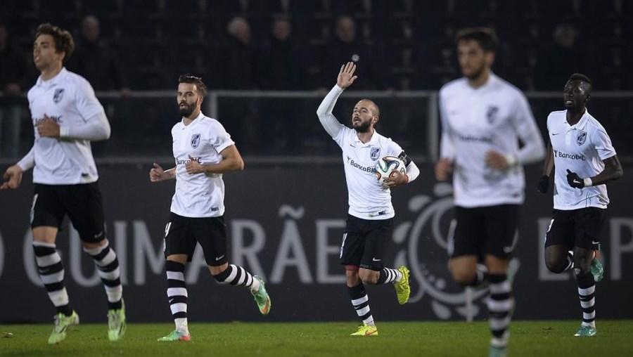 André, do Vitória de Guimarães, festeja golo contra o Moreirense