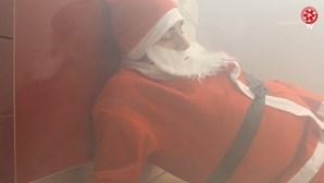 Bombeiros 'salvam' Pai Natal de incêndio