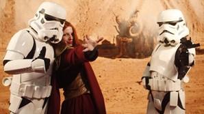 Alguns participantes vestiram-se de personagens de 'Star Wars' e heróis de BD