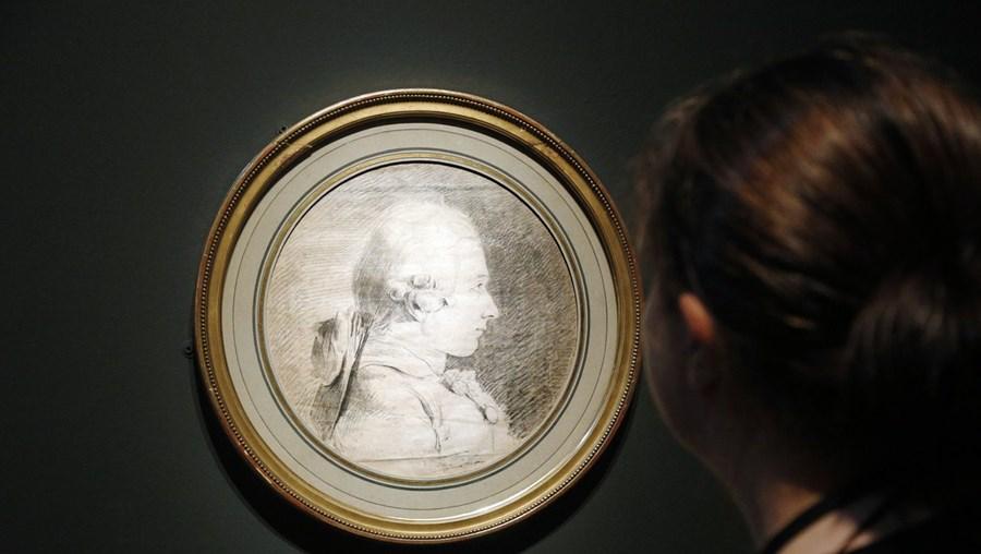 Retrato do marquês em jovem, na exposição no Musée d'Orsay, em Paris