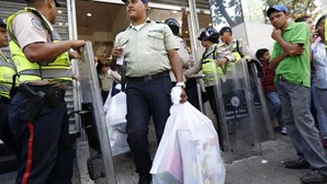 Luso-descendente detido por protestar