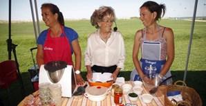 A chef de cozinha durante o evento 'Movido a 4 Patas' que decorreu no Parque das Nações, Lisboa, em junho de 2014, com o objetivo de sensibilizar os portugueses contra o abandono dos animais