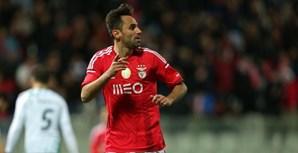 Jonas festeja golo do Benfica frente ao Moreirense